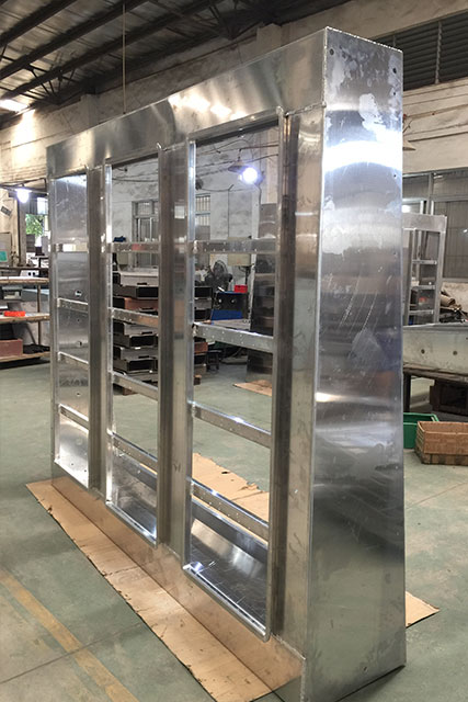 China OEM Sheet metal Aluminum Fabrication for advertising board
