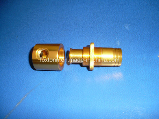 Custom CNC Machining Gold Electroplating Aluminum Parts