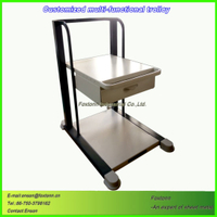 Sheet Metal Instrument Medical Trolley Cart Customized by CNC Machining