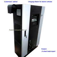 Custom Fabrication Sheet Metal Cabinet for EV Charging Station