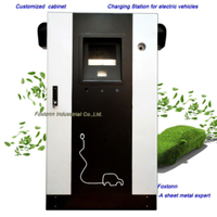 Electric Metal Cabinet Car Charger EV Charging Station