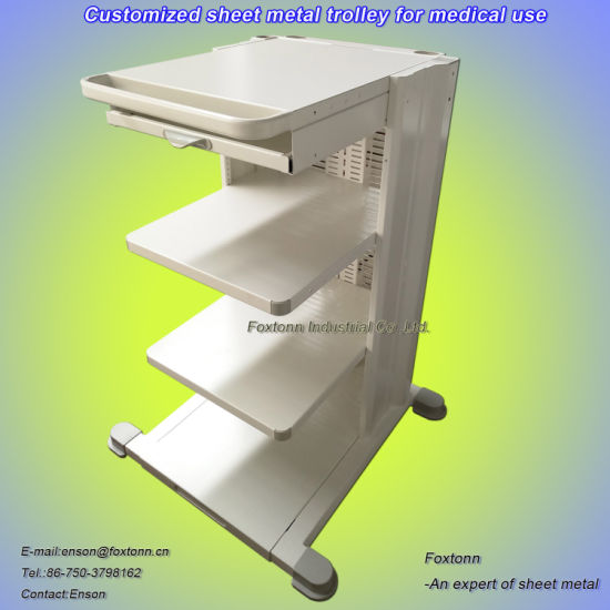 Sheet Metal Medical Trolley Customized for Hospital Equipment Cart